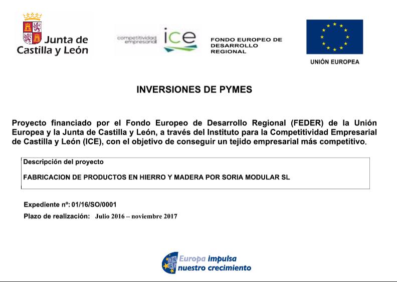 Proyecto Financiado por el Fondo Europeo de Desarrollo Regional FEDER